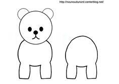 Coloriage ours pour rouleau de papier wc