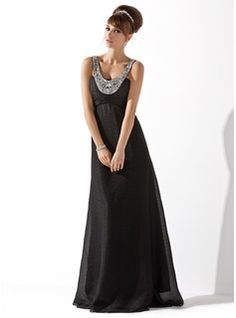 Prom Dresses - $146.99 - Empire Scoop Neck Floor-Length Chiffon Prom Dress With Ruffle Beading  http://www.dressfirst.com/Empire-Scoop-Neck-Floor-Length-Chiffon-Prom-Dress-With-Ruffle-Beading-018044002-g44002