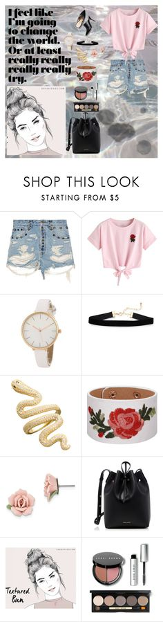 """"""":)"""" by lindsss2 on Polyvore featuring Gucci, WithChic, 1928, Mansur Gavriel and Bobbi Brown Cosmetics"""