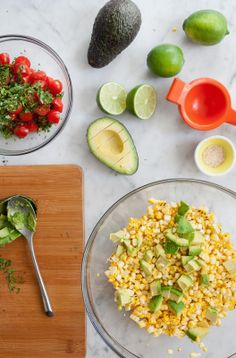 Bacon, Corn, Avocado and Tomato Salad! Sounds tasty!