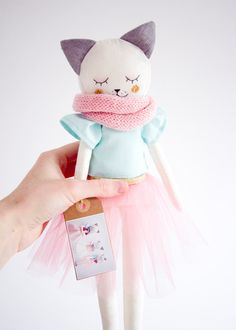 Kitty Handmade Toy by AGoodStart on Etsy Softies, Ideal Toys, Fabric Animals, Fabric Toys, Cat Doll, Ragdoll Doll, Sewing Dolls, Soft Dolls, Diy Toys