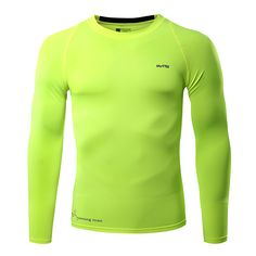 Sale 26% (13.86$) - Mens Training High Elastic Quick-drying Breathable Sports Fitness Running Tight Long Sleeve T-shirt