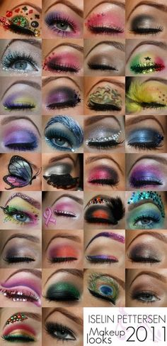 Just a bunch of fun eyeshadow looks. My fav is the cancer I SUPPORT