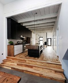 LOVE this wood floor.  The unstained random tones are so beautiful.  Also, while searching wood floors I saw a ridiculous amount of painted ones.  All I can say is BLASPHEMY.  I would NEVER paint a wood floor.  Ridiculous.