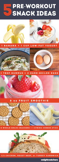 Wondering what to eat before you head to workout? Check out these 5 snack ideas that will keep your body fueled!