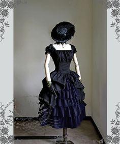 Fanplusfriend Lady's New Romantic Series Rococo Lolita Victorian Palatial Retro Collar & Sleeves Two-Way Plump Bustle Dress