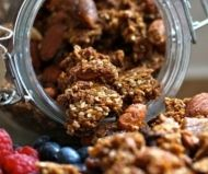Healthy breakfast or snack recipe for Almond and Fig Granola