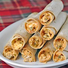 AMAZING Baked Chicken Taquitos