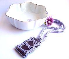 Textile jewelry handmade crochet and ceramics on by Pietralavica, €25.00