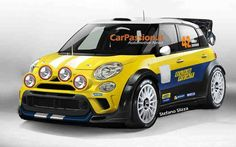 The new Fiat for rally Fiat 500c, Fiat Abarth, New Fiat, Moto Car, Fiat Cars, Sweet Cars, Small Cars, Rally Car, Automobile