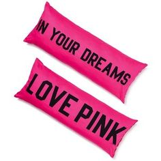 Bedtime BFF: the Body Pillow from Victoria's Secret PINK. PINK your pad with fun bedding and dorm accessories in the hottest graphics and cutest colors. Pink Pillow Cases, Pink Pillows, Pink Bedding, Body Pillows, Black Comforter, Bedding Sets, Rosa Victoria Secret, Victoria Secret Rooms, Vs Pink