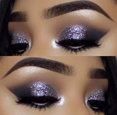 Sprinkles makes everything better! @vemakeup713 applied our Sprinkles glitter in Silver on the lids for a glamorous pop on the eyes! — Products shown: Silver Sprinkles