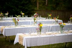 DIY Backyard Wedding Reception