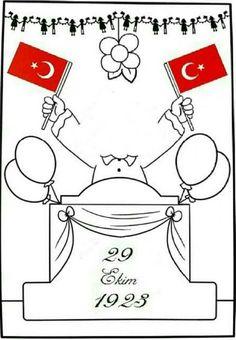 #cumhuriyetbayramı#boyamasayfaları#cumhuriyet#bayrak#belirligünvehaftalar#güzelsözler#ilkokul