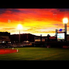 @timydutton #reno aces game #baseball #sunset #ball @Reno Aces