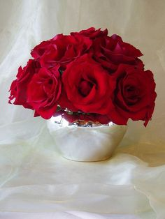 Red Rose Centerpiece group #9 by Flora By Vonna, via Flickr