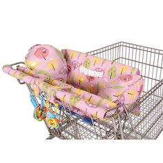 """Leachco Prop 'R Shopper Body Fit Shopping Cart Cover - Pink Forest Frolics - Leachco, Inc. - Babies """"R"""" Us"""