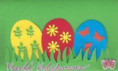 Velikonoční přání s vajíčky Easter Crafts For Kids, Sd, Easter, Spring, Easter Activities, Easter Crafts For Toddlers