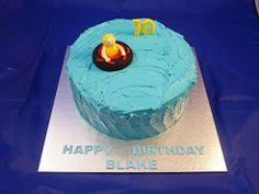 Water Tubing 10th Birthday Cake
