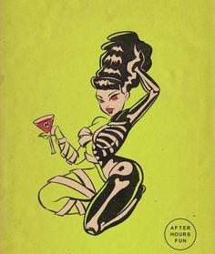 Halloween Art, Vintage Halloween, Art Sketches, Art Drawings, Dibujos Pin Up, Arte Obscura, Illustration Art, Illustrations, Vintage Horror