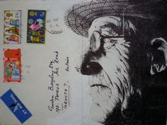 Mark Powell, whose work we discovered over at Colossal, draws incredibly detailed, sumptuous portraits on the backs of vintage envelopes with nothing but a regular old Bic Biro pen. These portraits, often of the elderly subjects, are drawn on the backs of vintage envelopes, and Powell subtly incorporates remnant text, stamps, or just the lines of folding into his work. The result is an extremely compelling series that makes us reconsider the lost art of letter writing — and makes us want to…