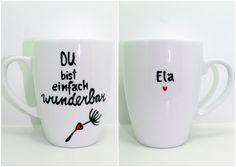 Becher & Tassen - Pusteblume Tasse mit Herz Tasse mit Name & ... - ein Designerstück von Lovely-Cups bei DaWanda