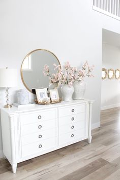 Spring Home Tour With Accents Of Blush & Blue – Summer Adams – The Greenspring Home – Design Elegant Home Decor, Elegant Homes, Spring Home Decor, Diy Home Decor, Living Room Decor, Bedroom Decor, Ikea Bedroom, Bedroom Furniture, Bedroom Ideas