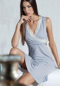 Домашнее платье без рукавов Verdiani — Нежная одежда