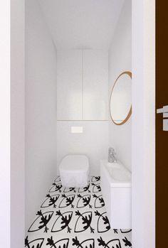 white small toilet, Vives Rotjen Basalto tiles
