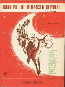 Printable Rudolph Christmas Sheet Music - - FREE printable Rudolph The Red Nosed Reindeer vintage sheet music. A cool retro look for Christmas DIY and craft projects or simply printed out and framed. Rudolph Christmas, Christmas Past, Retro Christmas, Vintage Christmas Cards, Christmas Images, Vintage Holiday, Vintage Cards, Christmas Crafts, Christmas Stuff