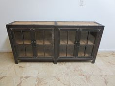 Industrial Reclaimed Metal Server Sideboard Buffet Curio Cabinet TV Stand chic A by ZbrothersFurniture on Etsy https://www.etsy.com/listing/270928534/industrial-reclaimed-metal-server