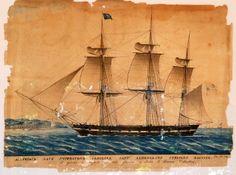 The Austrian-Hungarian Navy Ship 'Imperatrice Carolina' in 1818