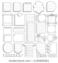Bullet journal hand drawn vector elements for note. -Bullet journal hand drawn vector elements for note. -Bullet journal hand drawn vector elements for note. Bullet Journal Boxes, Bullet Journal Headers, Bullet Journal Aesthetic, Bullet Journal Notebook, Bullet Journal Ideas Pages, Bullet Journal Inspiration, Bullet Journal Vectors, Borders Bullet Journal, Bullet Journal Graphics