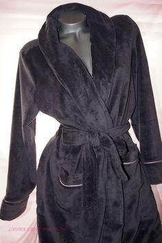 XTX Mens Bathrobe Loungewear Shawl Collar Turkish Bathing Flannel Robes