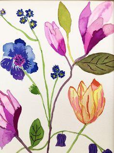 Flower Painting classes suitable for beginners. D Flowers, Painting Courses, Learn To Paint, Painting Frames, Art, Learn Painting, Kunst, Learn To Draw, Framed Art