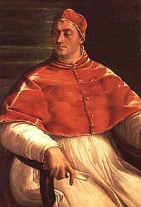 Pope Clement VII (1523–1534), also a Medici, whose power-politicking with France, Spain, and Germany got Rome sacked.