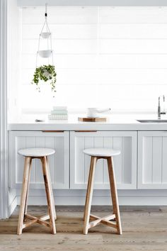 Love this country styled kitchen. White and timber.