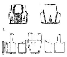 Folk Embroidery Tutorial FolkCostumeEmbroidery: Costume of central Serbia, or Šumadija, Шумадија Costume Patterns, Doll Clothes Patterns, Clothing Patterns, Dress Patterns, Sewing Patterns, Folk Embroidery, Embroidery Patterns, Embroidery Stitches, Ethno Style