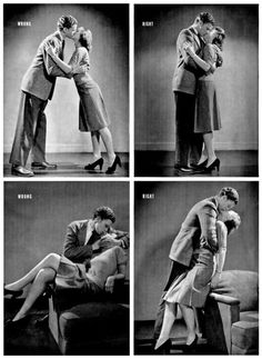 Photo guide on how to kiss properly (on the stage?) from LIFE magazine, 1942. This is hilarious :)
