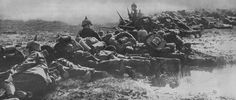 Infantry Tactics in 1914 Pictured - German troops lay down fire and prepare for the order to advance. World War One is most remembered for its miserable trench warfare. The firepower of artillery and machine guns made it suicidal for soldiers to...