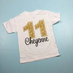 Golden Birthday Shirt For 11 Year Old Girl 11th