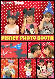 Mickey Mouse and Minnie Mouse Disney Photo Booth