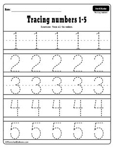 Number tracing worksheets for preschool and kindergarten. Free printable pdf number worksheets for tracing practice. Tracing numbers free printable worksheets - learning numbers in preschool and kindergarten. Preschool Number Worksheets, Pre K Worksheets, Numbers Kindergarten, Preschool Writing, Preschool Learning Activities, Free Printable Worksheets, Preschool Kindergarten, Free Preschool, Free Kindergarten Worksheets