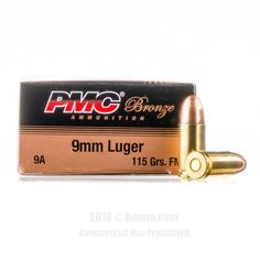 PMC 9mm Ammo - 1000 Rounds of 115 Grain FMJ Ammunition #9mm #9mmAmmo #PMC #PMCAmmo #PMC9mm #FMJ