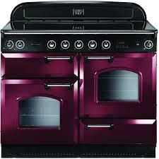 Rangemaster Classic Electric Range Cooker with Induction Hob - Cranberry / Chrome Electric Range Cookers, Dual Fuel Range Cookers, Electric Oven, Oven Cleaning, Ovens, Chrome, Appliances, Black, Kitchen