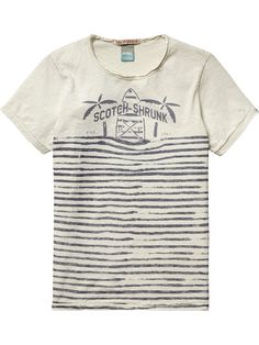 Striped Logo T-Shirt |T-shirt s/s|Boys Clothing at Scotch & Soda