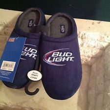 MEN'S SLIPPERS~ BUD LIGHT ~SIZE 11/12 ~ NEW WITH TAGS