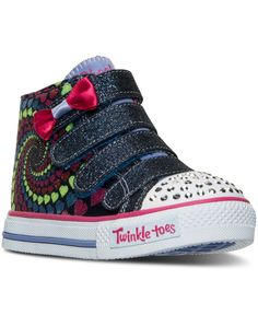 5dd17140f94 Skechers Toddler Girls  Twinkle Toes  Shuffles - Little Skippers Hi AC  Light-Up Casual Sneakers from Finish Line Kids - Finish Line Athletic Shoes  - Macy s