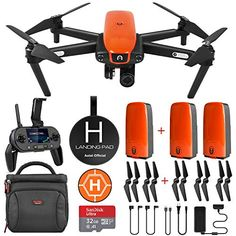 Autel Robotics EVO Drone Camera with Cinematic HD Video Bundle Drones, Drone Quadcopter, Folding Drone, Foldable Drone, Pilot, 4k Hd, Geek Gear, Power Cable, Photography Gear