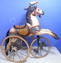 shopgoodwill.com: Vintage Tricycle Riding Horse Toy